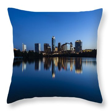 Wrapped In Blue Throw Pillow