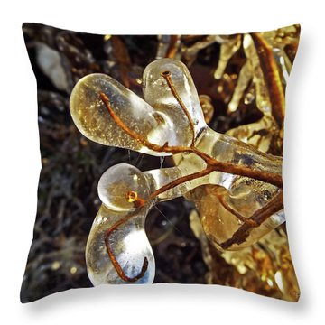 Wrapped In Ice Throw Pillow