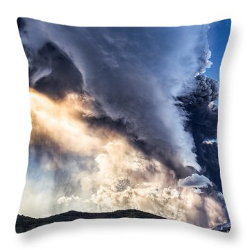 Wrath Of Nature Throw Pillow