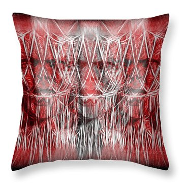 Wrath Threefold Throw Pillow by Mimulux patricia no No