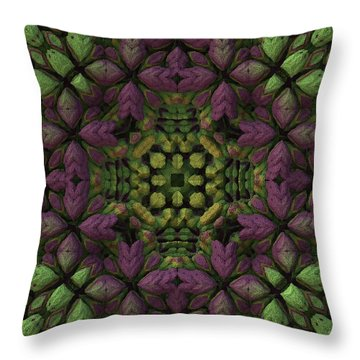 Throw Pillow featuring the digital art Wreath by Lyle Hatch