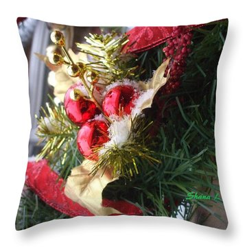 Throw Pillow featuring the photograph Wreath by Shana Rowe Jackson