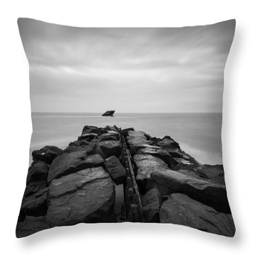 Wreck Of The Ss Atlansus Of Cape May Nj Throw Pillow