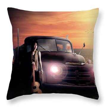 Throw Pillow featuring the digital art Wrecked  by Nathan Wright