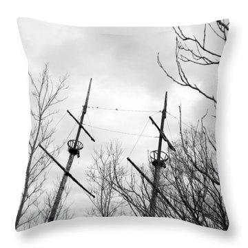 Throw Pillow featuring the photograph Wrecked by Valentino Visentini