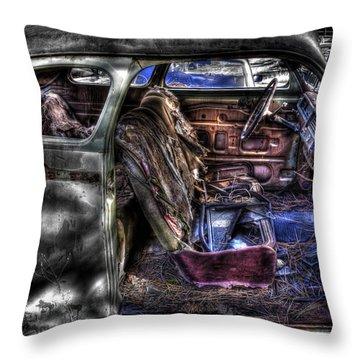 Wrecking Yard Study 1 Throw Pillow
