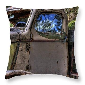 Wrecking Yard Study 4 Throw Pillow