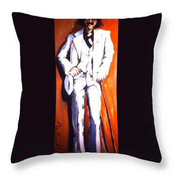 Throw Pillow featuring the painting Wresch by Les Leffingwell