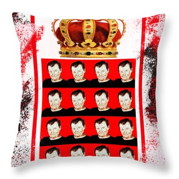 Wrestling Legend Jerry The King Lawler IIi Throw Pillow