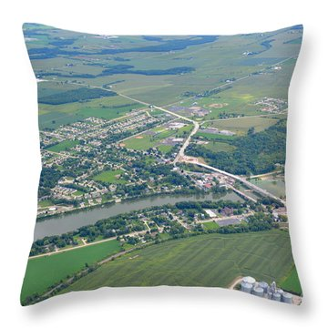 Wrightstown Wisconsin Throw Pillow by Bill Lang