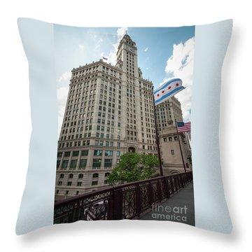 Wrigley Building Throw Pillow