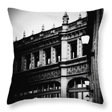 Wrigley Building Square Throw Pillow