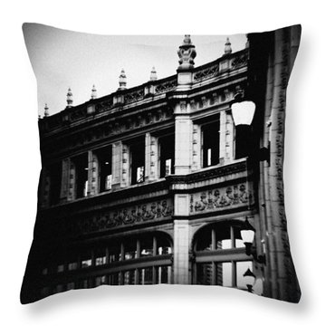 Wrigley Building Square Throw Pillow