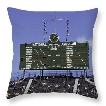 Wrigley Field Classic Scoreboard 1977 Throw Pillow