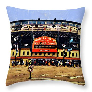 Wrigley Field Throw Pillow