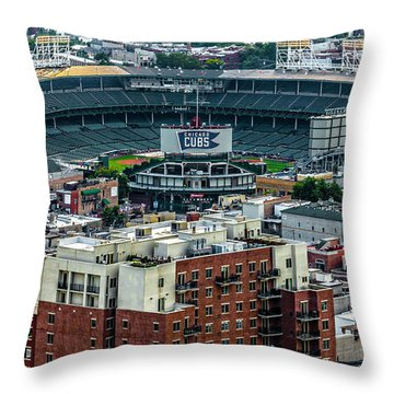 Wrigley Field Park Place Towers During The Day Dsc4743 Throw Pillow