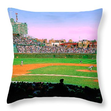 Wrigley Field  Throw Pillow