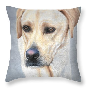 Throw Pillow featuring the painting Wrigley by Mike Ivey