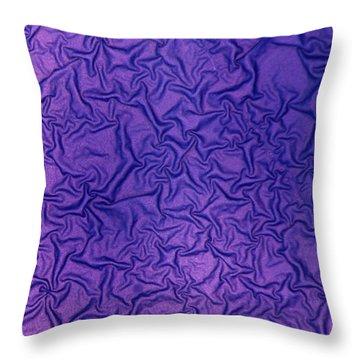 Purple Wrinkles Throw Pillow