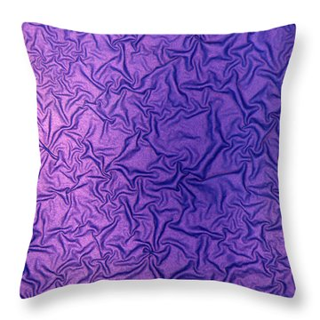 Purple Wrinkles Throw Pillow