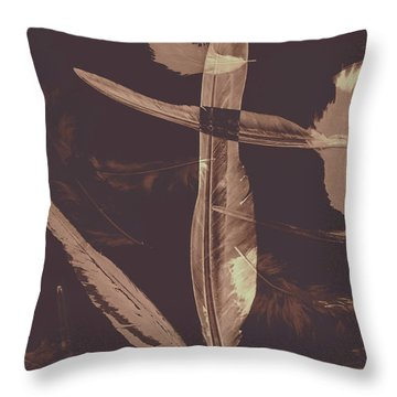 Writers Guild Abstract Throw Pillow