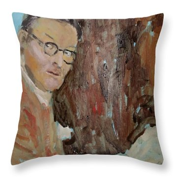 Writers I. Sketch Iv Throw Pillow by Bachmors Artist