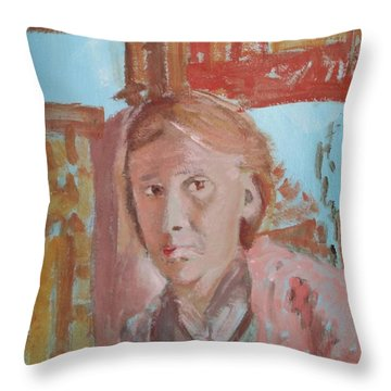 Writers I. Sketch V Throw Pillow by Bachmors Artist