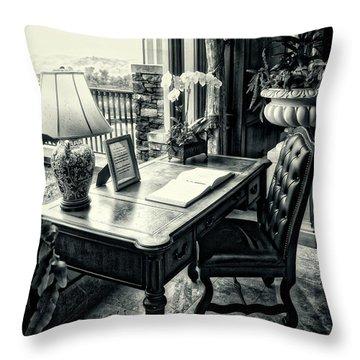 Writing Desk Bw Series 0808 Throw Pillow
