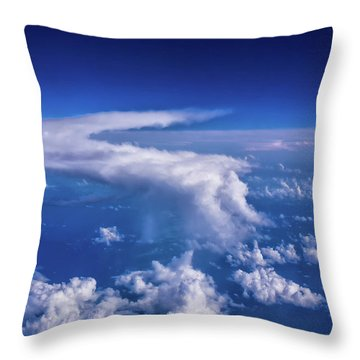 Throw Pillow featuring the photograph Writing In The Sky by Louise Lindsay