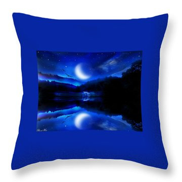 Written In The Stars Throw Pillow by Bernd Hau