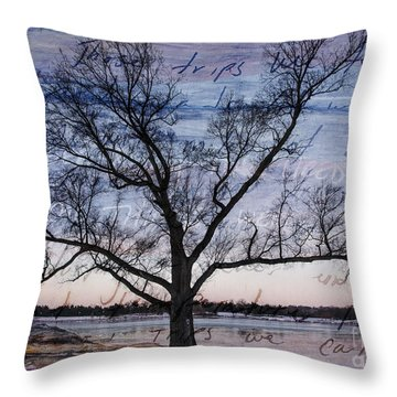 Written On The Wind Throw Pillow