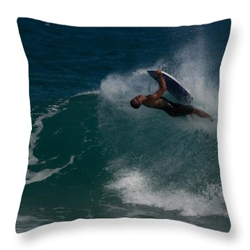 Wrong Side Up Throw Pillow by Roger Mullenhour