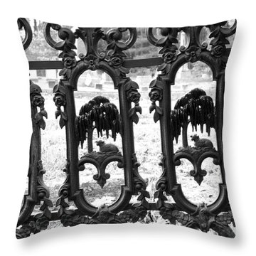 Wrought Iron Gate -west Epping Nh Usa Throw Pillow by Erin Paul Donovan