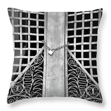 Throw Pillow featuring the photograph Wrought Lock by Jost Houk