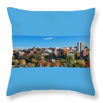 Wsu Autumn Panorama Throw Pillow