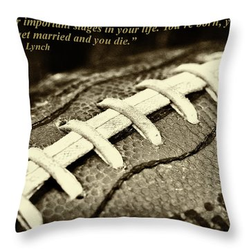 Wsu Cougar Dan Lynch Quote Throw Pillow by David Patterson
