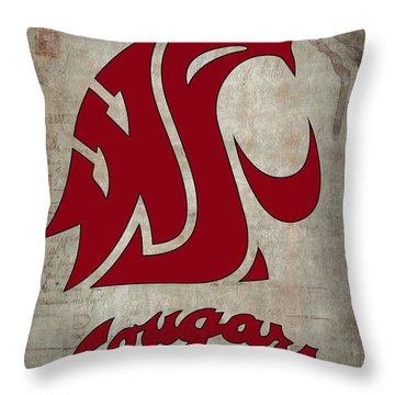 W S U Cougars Throw Pillow