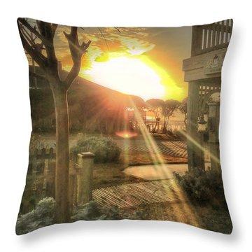 Throw Pillow featuring the photograph Wu Wu's Beach by Phil Mancuso