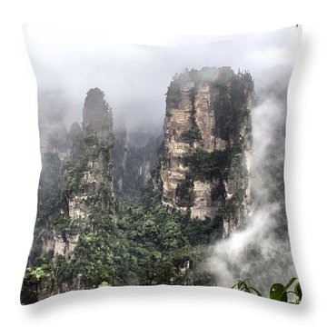 Wulingyuan #1 Throw Pillow by Wade Aiken