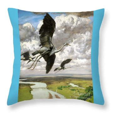 Wundervogel Throw Pillow by Pg Reproductions