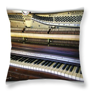 Wurlitzer Piano Throw Pillow by Brian Wallace