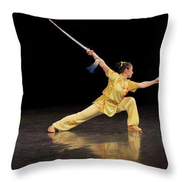 Wushu Throw Pillow