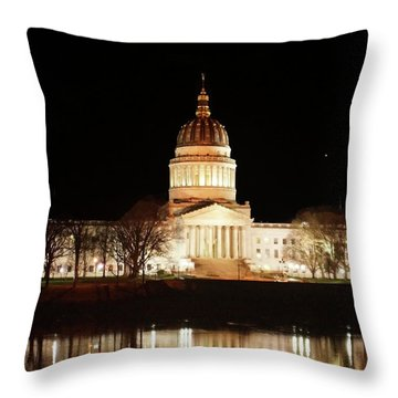 Wv Capital Building Throw Pillow