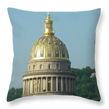 West Virginia State Capital Building  Throw Pillow