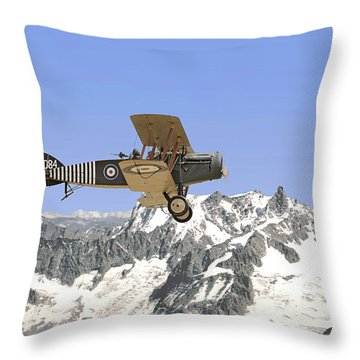 Throw Pillow featuring the photograph Ww1 - Bristol Fighter by Pat Speirs