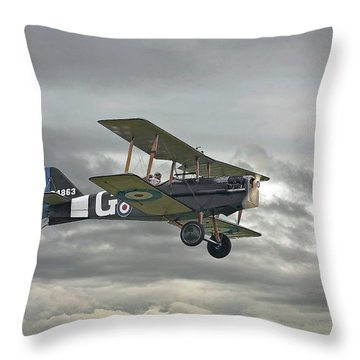 Throw Pillow featuring the digital art Ww1 - Icon Se5 by Pat Speirs