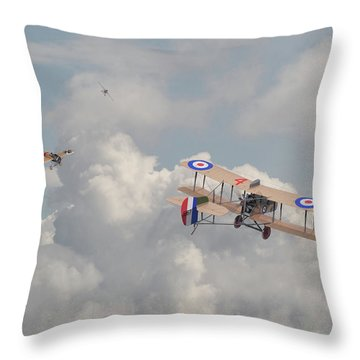 Throw Pillow featuring the photograph Ww1 - The Fokker Scourge - Eindecker by Pat Speirs