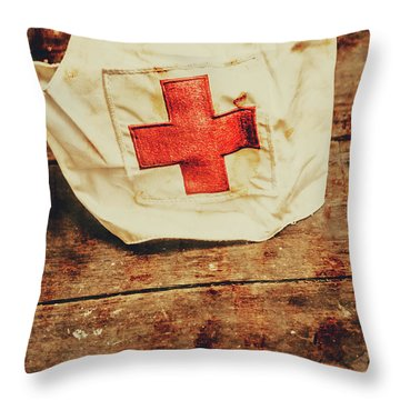 Ww2 Nurse Hat. Army Medical Corps Throw Pillow