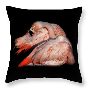 When Two Become As One Throw Pillow by Karen Wiles