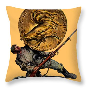 Wwi Gold For French Victory Throw Pillow